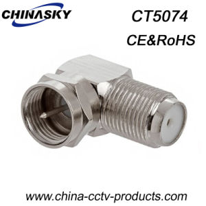 CCTV Female to Male Right Angle F Connector (CT5074C) pictures & photos