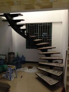 Custom Steel Arc Indoor Staircase with Ce Ceritfication pictures & photos