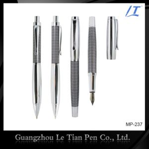 Classical Etching Metal Ballpoint Pen and Cap-off Rollerball Pen pictures & photos