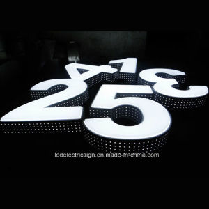 LED Advertising Signs Stainless Steel Luminous Word with Neon Sign pictures & photos