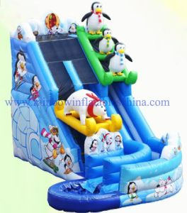 North Pole Polar Bears and Penguins Inflatable Slide Water Beach Pool for Kids and Adults pictures & photos