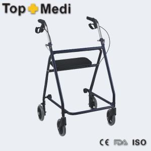 Steel Walking Aid Walker with Hand Brake for Old People pictures & photos
