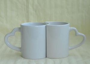 Heart Handle Sublimation Mug for Lover pictures & photos