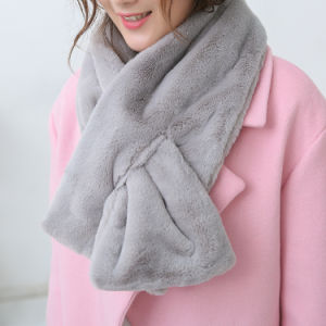 Women Classic Plain Color Fashion Faux Fur Winter Scarf (YKY4622) pictures & photos