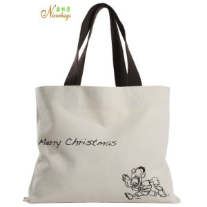 High Quality Merrry Christmas Promotion Custom Canvas Tote Bag pictures & photos
