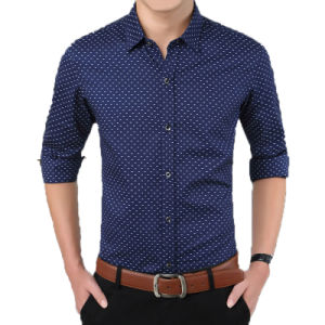 China Factory OEM Fashion Shirt Men Dress Cotton Shirt