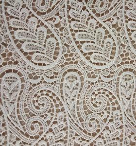 White Stylish Chemical Lace Fabric for Wedding Dress (BLF762)