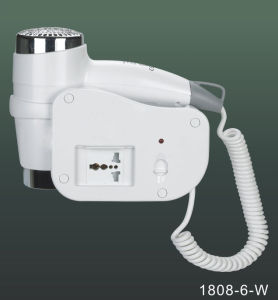 High Quality Wall Mounted Hotel Hair Dryer 1808-6-W