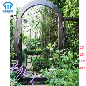 High Quality Crafted Wrought Iron Single Gate 026 pictures & photos
