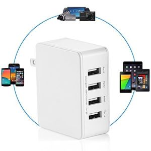 25W 4-Port Portable USB Power Adapter with Foldable Plug pictures & photos