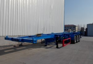 3 Axles 40FT 20FT Container Transporting Chassis Skeleton Semi Trailer pictures & photos