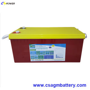 12V200ah High Temperature Deep Cycle Solar Gel Battery with 20years Longer Life pictures & photos