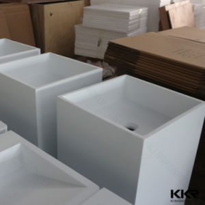 Ce Approved Solid Surface Bathroom Freestanding Basin for Hotel pictures & photos