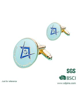 Metal Gold Plating Hard Enamel Men′s Cufflinks for Gift (hds-1) pictures & photos