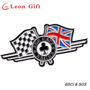 Wholesale Custom Shaped Metal Twin Flag Badge Lapel Pins pictures & photos
