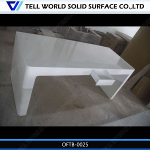 Pure White High Glossy Surface Curved Office Desk Office Table pictures & photos