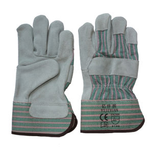 Leather Safety Hand Work Gloves pictures & photos
