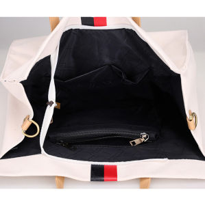 Fashion Cotton Canvas Ladies Tote Bag with PU Shoulder Strap pictures & photos