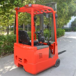 1 Ton Small Three Wheel Electric Forklift Battery Forklift Truck with Ce pictures & photos