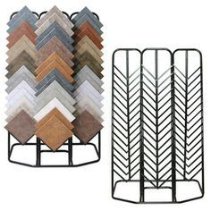 Floor Stand Quartz Stone Sample Stand Ceramics Tiles Display Rack pictures & photos