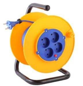 Extension Cord Reel European Plug 16A 250V H05VV-F 3G1.5mm2 25/50m pictures & photos