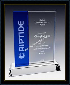 "Crystal Award Plaques / Vertical Blue Plaque 7"" H (NU-CW726) pictures & photos"