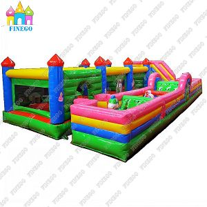 Outdoor Double Lanes Inflatable Obstacle Course pictures & photos