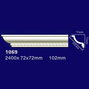 1069 PU Curved Corner Moulding /Cornice/ Crown Moulding