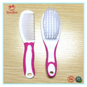 Double Colors Baby Hair Brush and Comb Set in 2 PCS pictures & photos