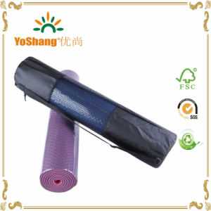 Wholesale Black Nylon Waterproof Yoga Mat Bag with Outside Mesh Pocket pictures & photos