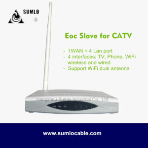 Ethernet Over Coax Eoc Slave WiFi Optional for CATV pictures & photos
