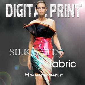 2017 Digital Printing Silk Satin Fabric (X1056) pictures & photos