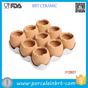 Adorable Set of 9 Brown Eggs Design Ceramic Plant Pot pictures & photos