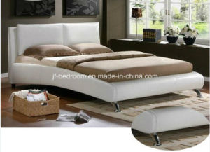 Europe Style White Color Leather Bed (Vb-17)