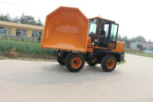3ton 4WD Diesel Front Tipping 180 Swivel Small Dumper Truck pictures & photos