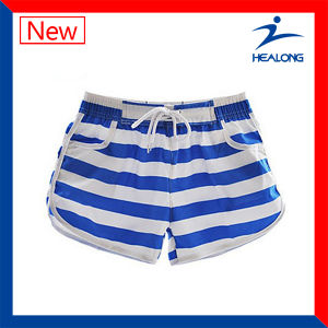 Healong Grandad Collar Dye Sublimated Wholesale Running Shorts pictures & photos