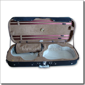 Plywood Shell Double Violin Hard Case (CSV207) pictures & photos