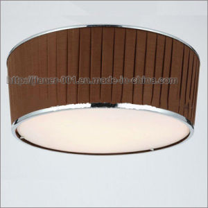 Simple Fabric Ceiling Lamps Lighting in Coffee Color pictures & photos