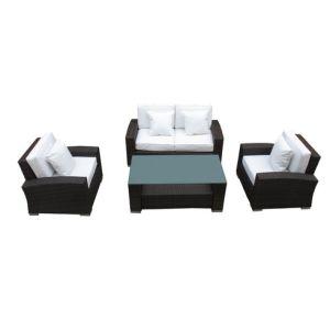 Well Furnir Rattan 4 Piece Outdoor Patio Sofa Set pictures & photos
