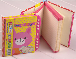 Custom Cartoon Hardcover Secret Diary with Lock for Student pictures & photos