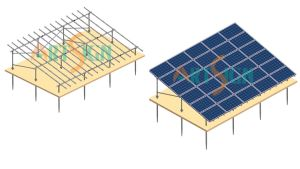 Solar Mounting System 6 Row with Ground Screw-03 pictures & photos
