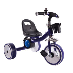 Pedal Tricycle for Kids with 3 Filashing Light Wheels pictures & photos
