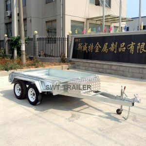 Tandem Axle Box Trailer Optional Different Kinds of Cage (SWT-TT85) pictures & photos