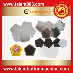 Talent Button Pentagon 60X58mm Pin Button pictures & photos