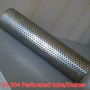 Perforated Stainless Steel Basket Strainer Filter, Tube/Pipe Filter/Perforated Filter Tube Pipe for Automobile Exhaust System pictures & photos