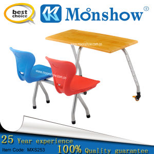 Student Desk and Plastic Chair Set for School Furniture
