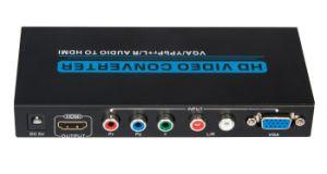 VGA / YPbPr +R/L Audio to HDMI Converter pictures & photos