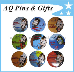 Hot Selling Tin Button Badge (button badge-12) pictures & photos