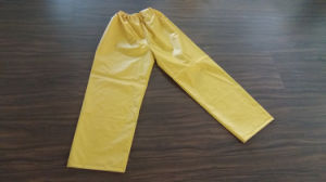 PVC Hooded Raincoat for Adult Yellow pictures & photos