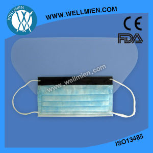Fluid-Resistant Surgical Mask with Fog-Free Foam and Antiglare Eyeshield pictures & photos